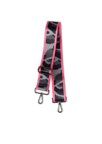 Gray Camo/Hot Pink Stripe Handbag Strap