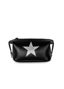 Erin Black Coated Silver Stripe Star