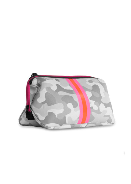 Erin White Camo/Pink/Orange Stripe