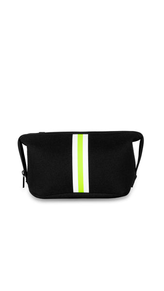 Erin Black Linen/White/Lime Stripe