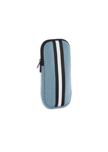 Ev Glasses Case Light Blue/Black White Stripe