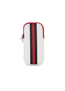 Ev Glasses Case White Coated/Black Red Stripe