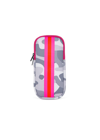 Ev Glasses Case White Camo Pink/Orange Stripe