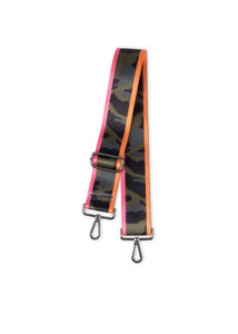 Green Camo/Pink Orange Stripes Handbag Strap