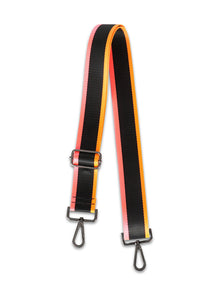 Black/Orange/Pink Handbag Strap