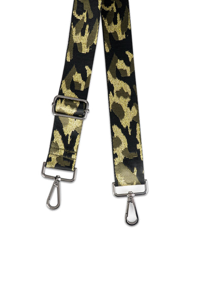 Green/Gold Camo Handbag Strap