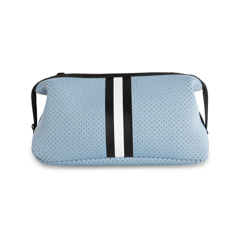Erin Light Blue Stripe/Black Denim