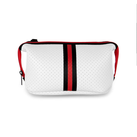 Erin White Coated Black/Red Stripe