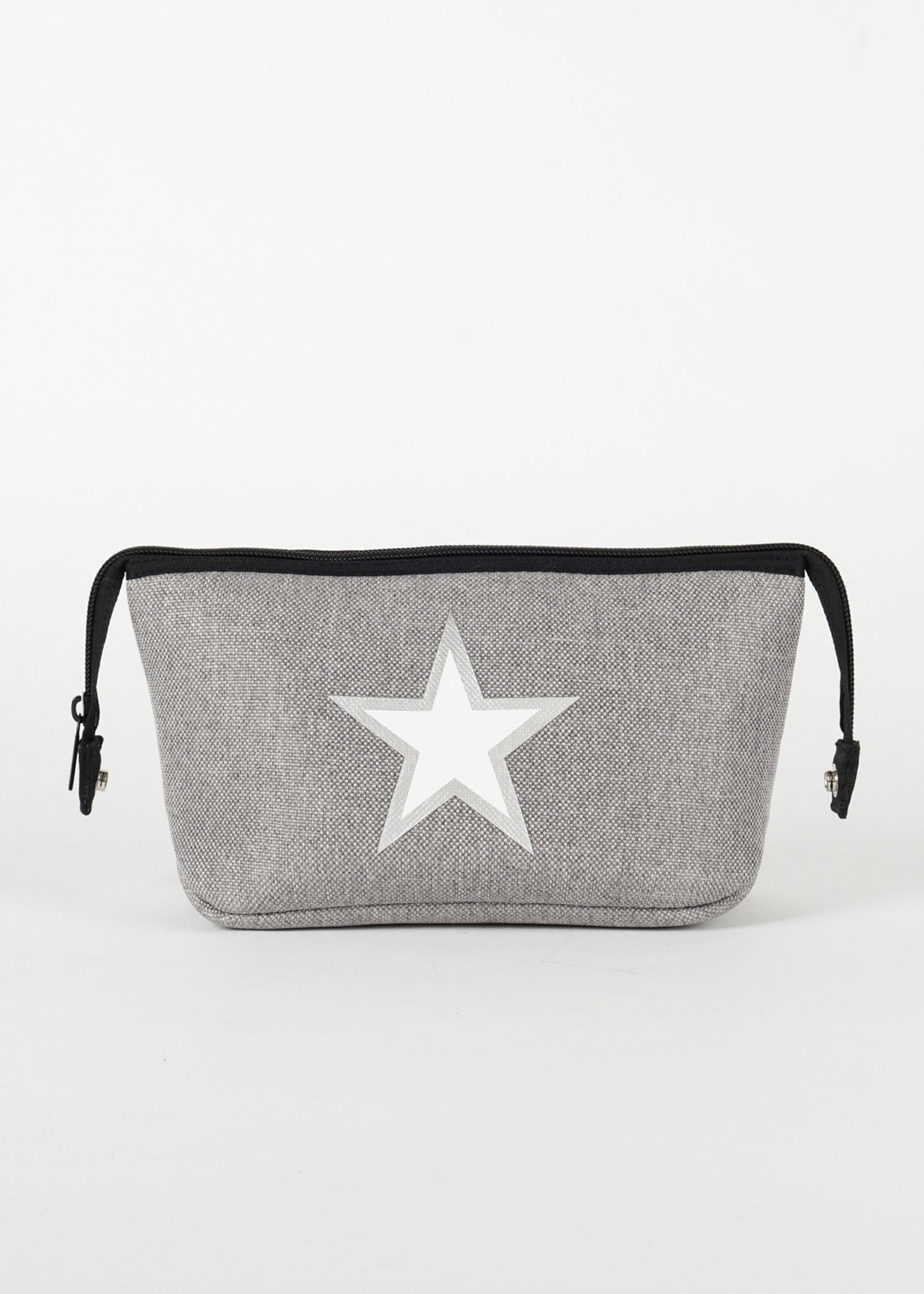 Erin Gray Linen/Silver Outline Star/Black Denim Back