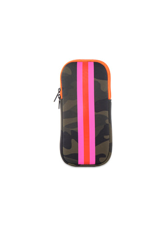 Ev Glasses Case Green Camo/Pink Orange