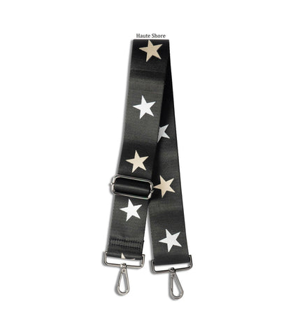 Black/Rose Gold/Silver Star Handbag Strap