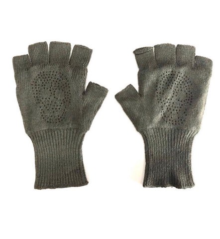 Skull Fingerless Gloves Army