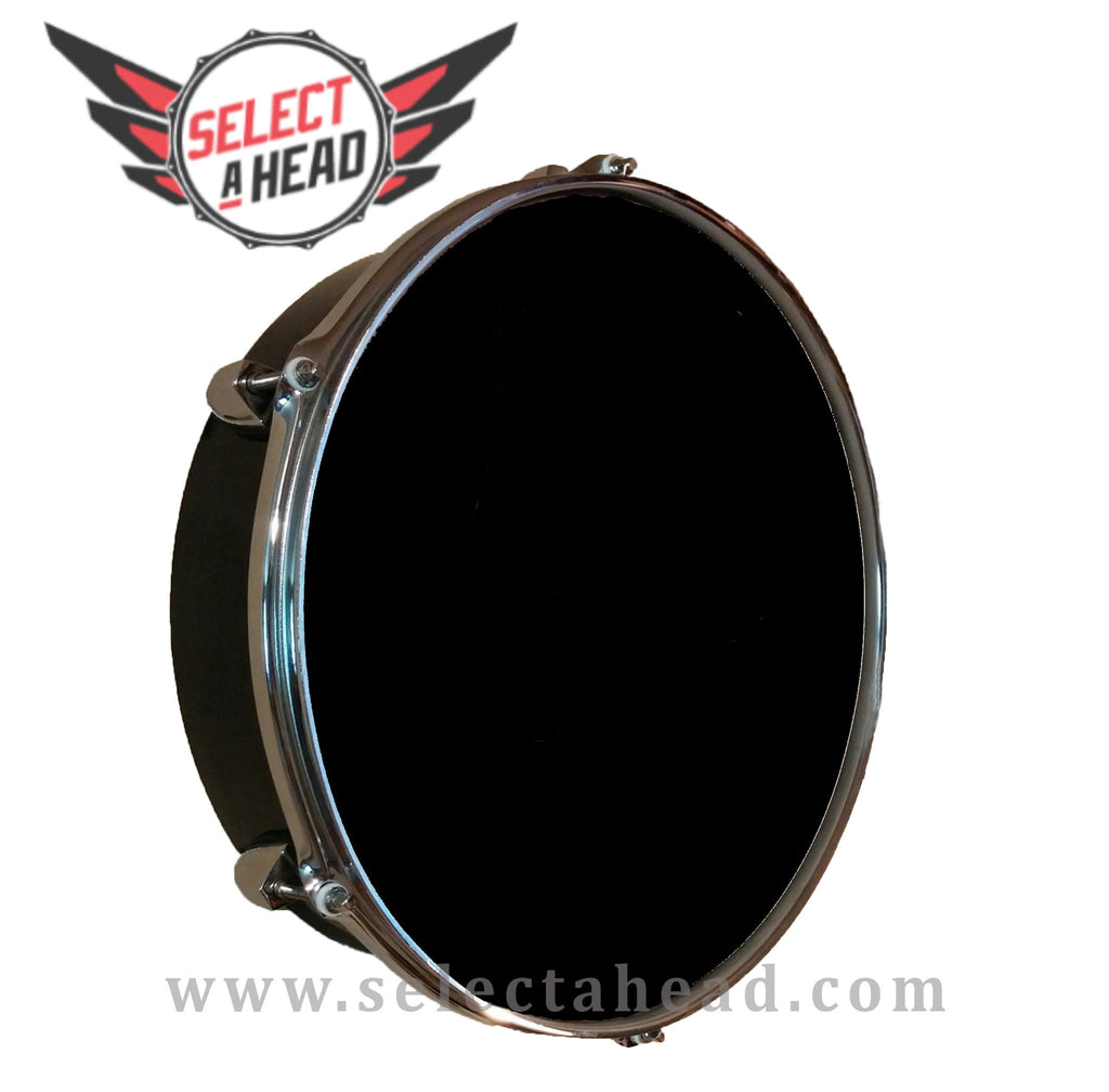 14 Inch Blank Drum Display with Chrome Hoop - Select a Head Drum Display