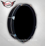 14 Inch Blank Drum Display with Black Hoop - Select a Head Drum Display