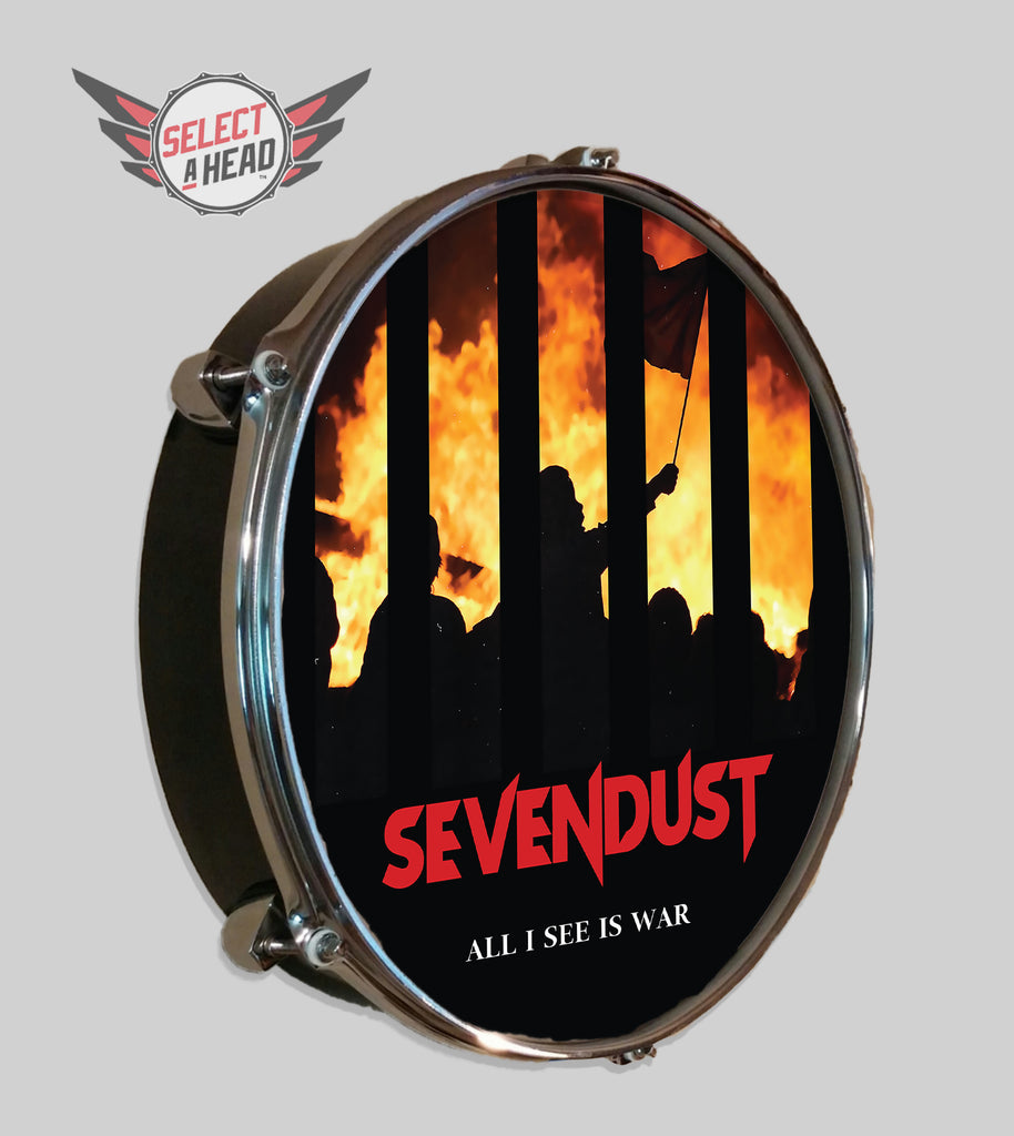 Sevendust All I See Is War - Select a Head Drum Display