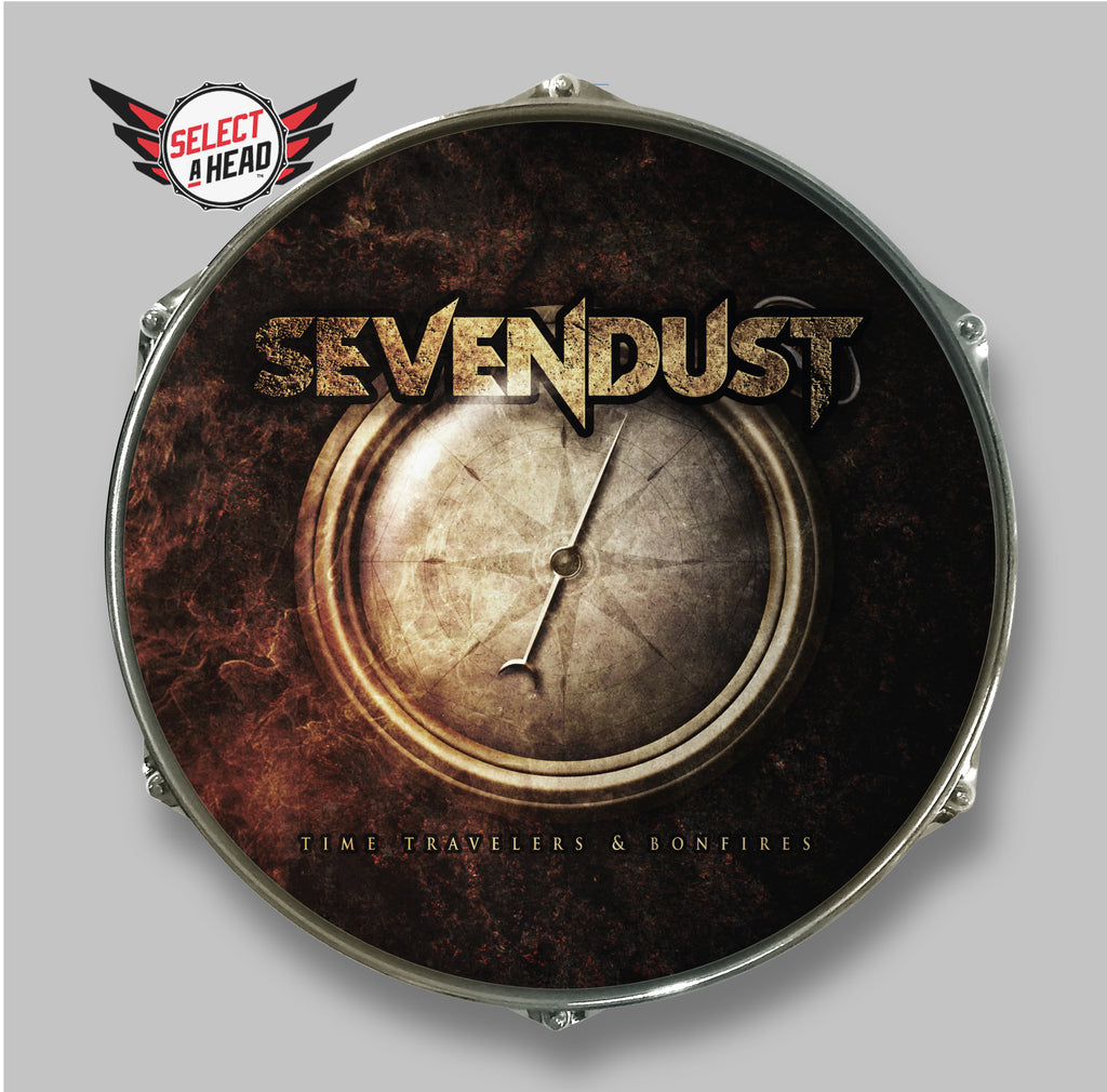 Sevendust Time Travelers and Bonfires - Select a Head Drum Display