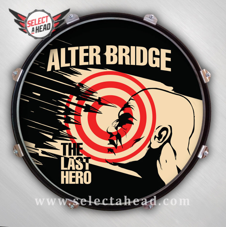 Alter Bridge The Last Hero - Select a Head Drum Display