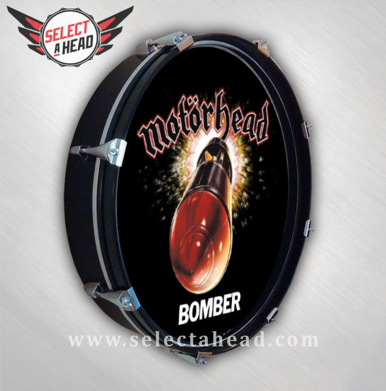 Motörhead BOMBER - Select a Head Drum Display