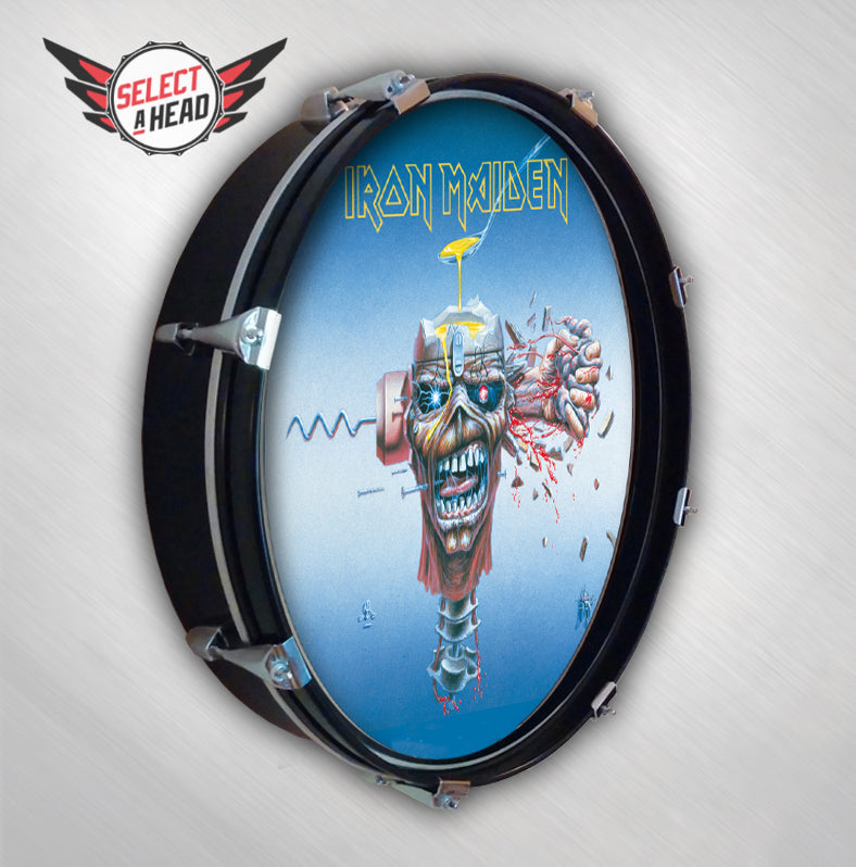 Iron Maiden Can I Play With Maddness - Select a Head Drum Display