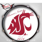 Personalized Washington State University Drum Display - Select a Head Drum Display