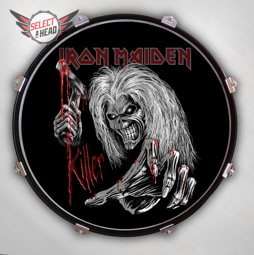 Iron Maiden  Eddie - Killer - Select a Head Drum Display