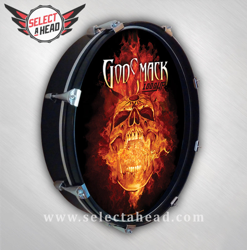 Godsmack Flaming Skull