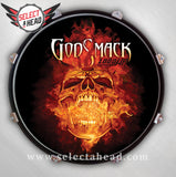 Godsmack Flaming Skull - Select a Head Drum Display