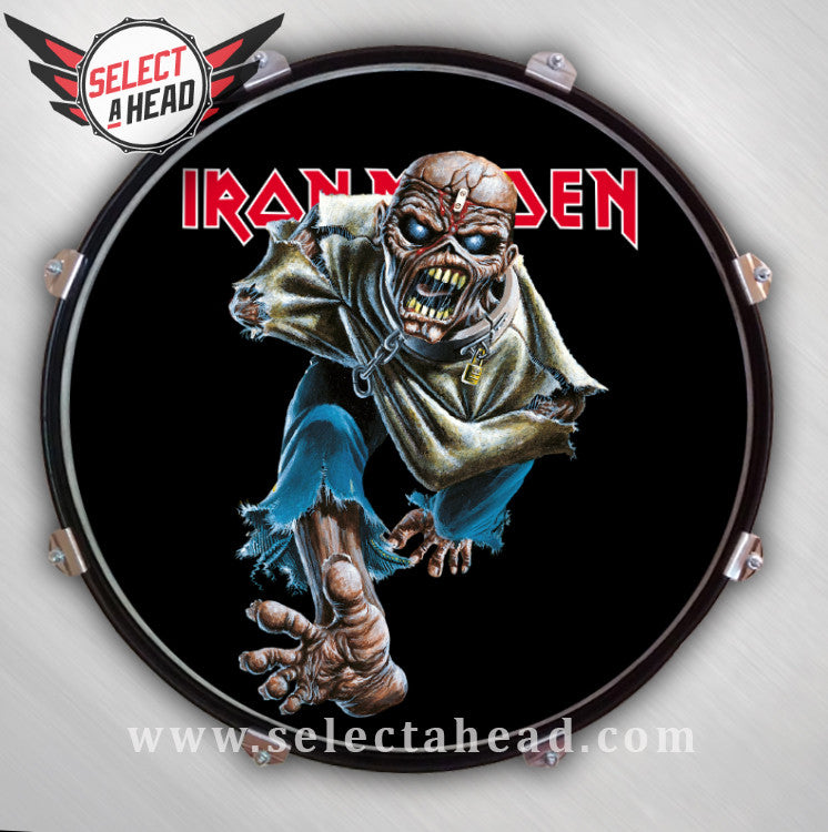 Iron Maiden Piece of Mind - Eddie - Select a Head Drum Display