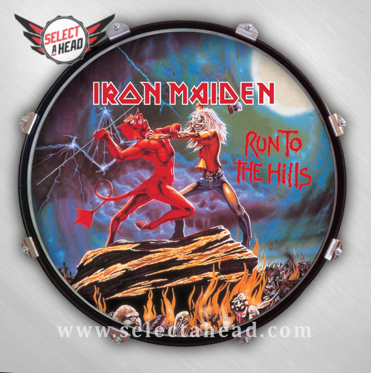 Iron Maiden Run to the Hills - Select a Head Drum Display