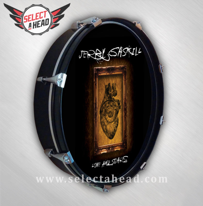 Jerry Gaskill Love and Scars - Select a Head Drum Display