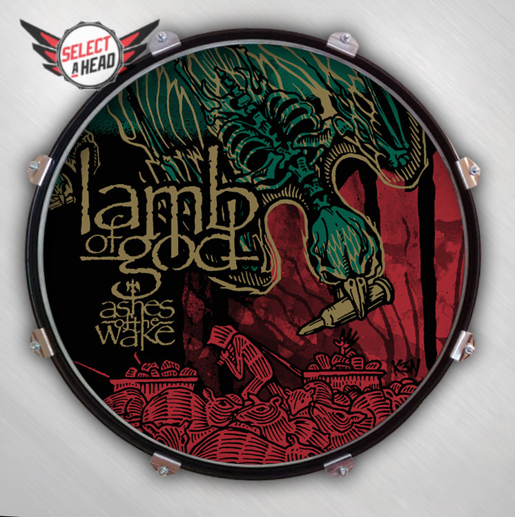 Lamb of God Ashes of the Wake - Select a Head Drum Display