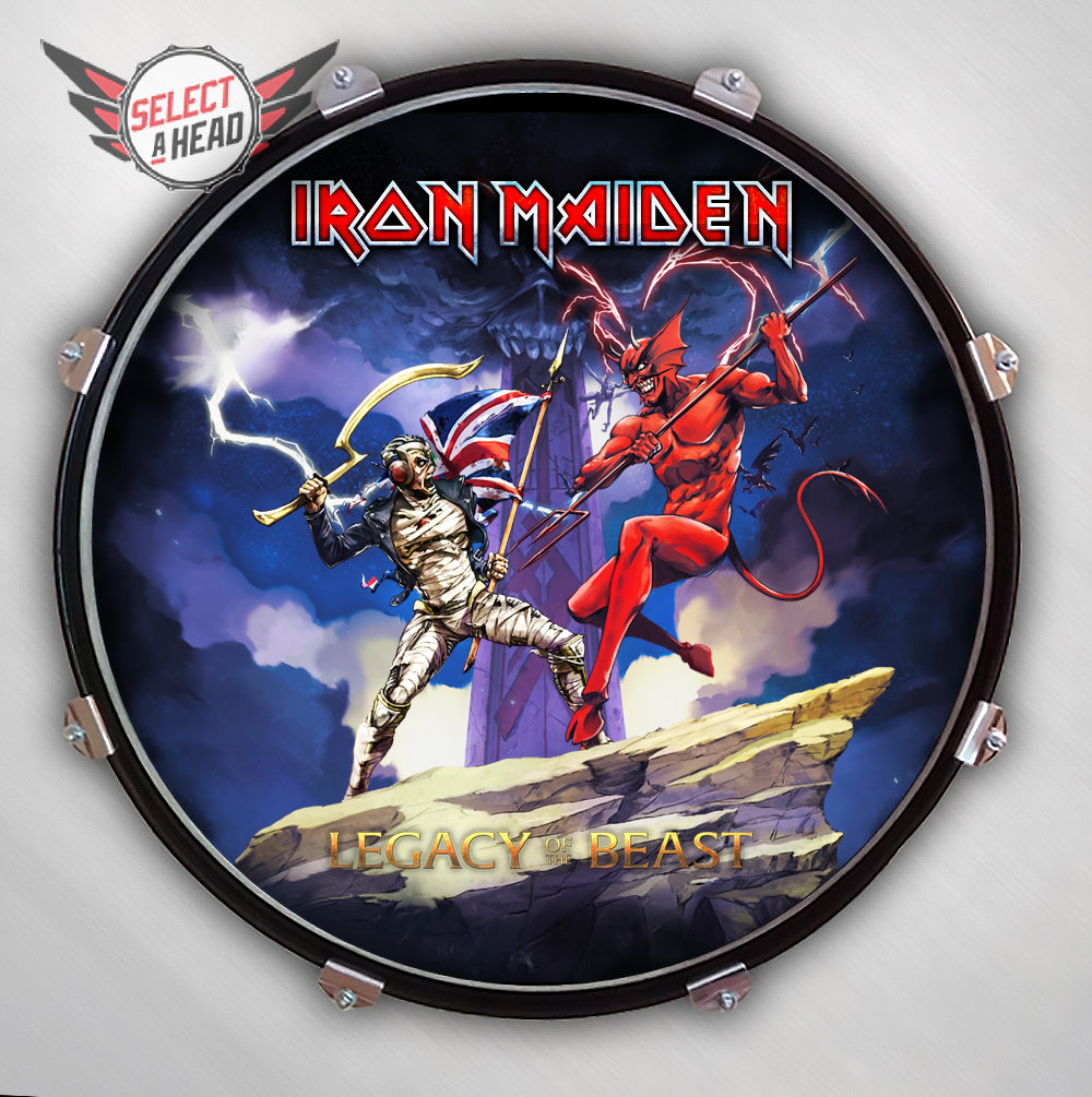 Iron Maiden  Legacy of the Beast - Select a Head Drum Display