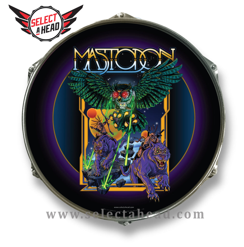 Mastodon Laser Owl - Select a Head Drum Display