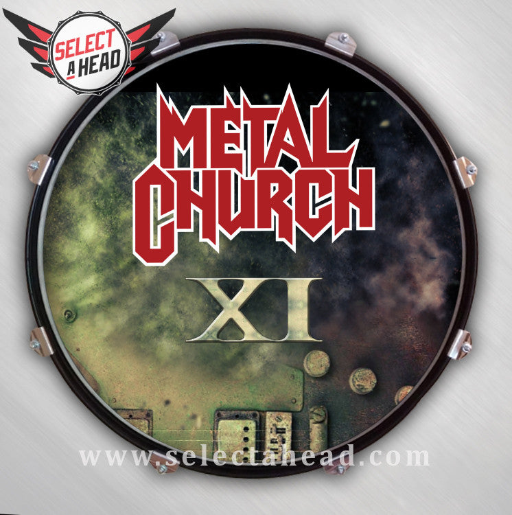 Metal Church XI - Select a Head Drum Display