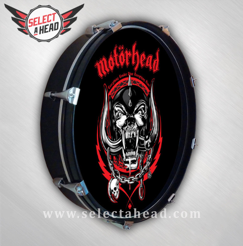 Motörhead Red Dog of War - Select a Head Drum Display