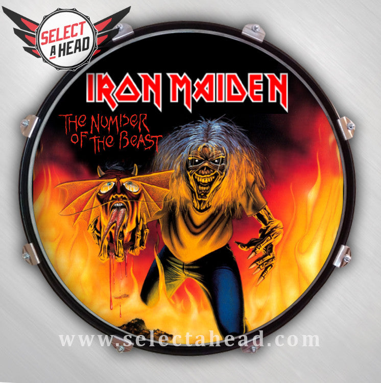 Iron Maiden Number of the Beast Alternative - Select a Head Drum Display