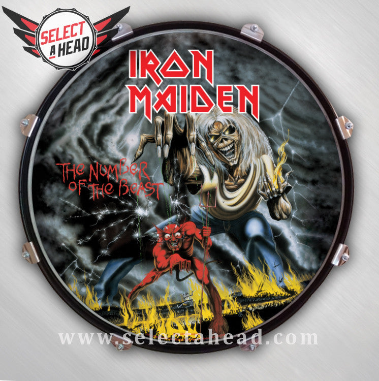 Iron Maiden Number of the Beast - Select a Head Drum Display