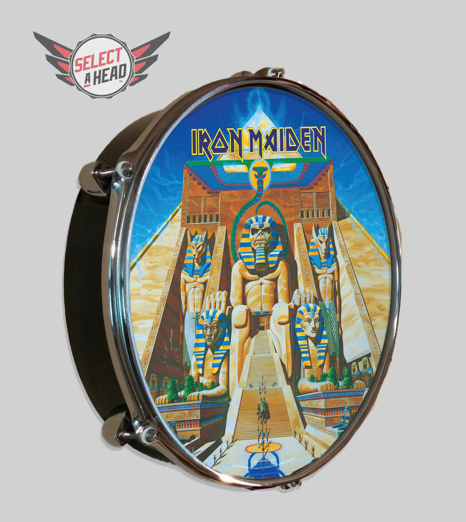 Iron Maiden Powerslave - Select a Head Drum Display