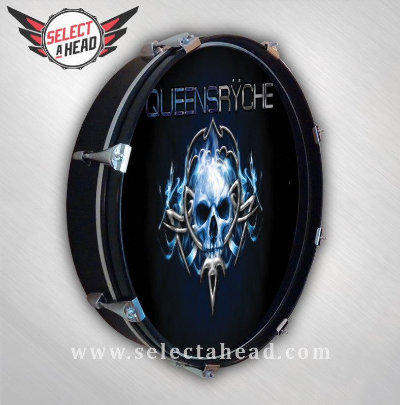 Queensryche Tribal Logo - Select a Head Drum Display