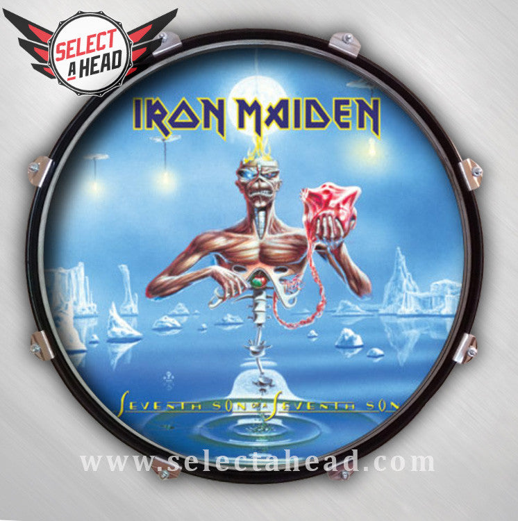 Iron Maiden Seventh Son of a Seventh Son - Select a Head Drum Display