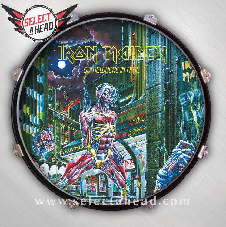 Iron Maiden Somewhere in Time - Select a Head Drum Display