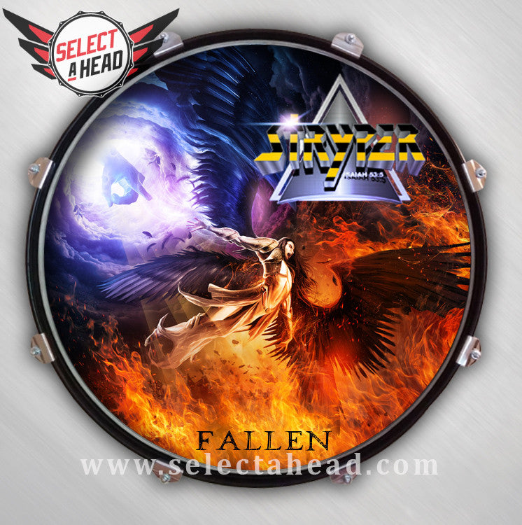 Stryper Fallen-Signed - Select a Head Drum Display