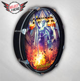Stryper God Damn Evil - SIGNED - Select a Head Drum Display