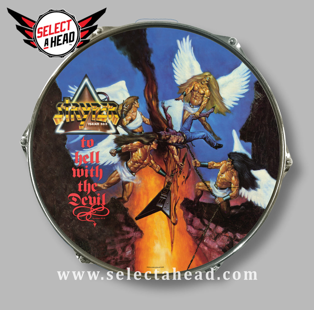 Stryper To Hell With The Devil - Select a Head Drum Display