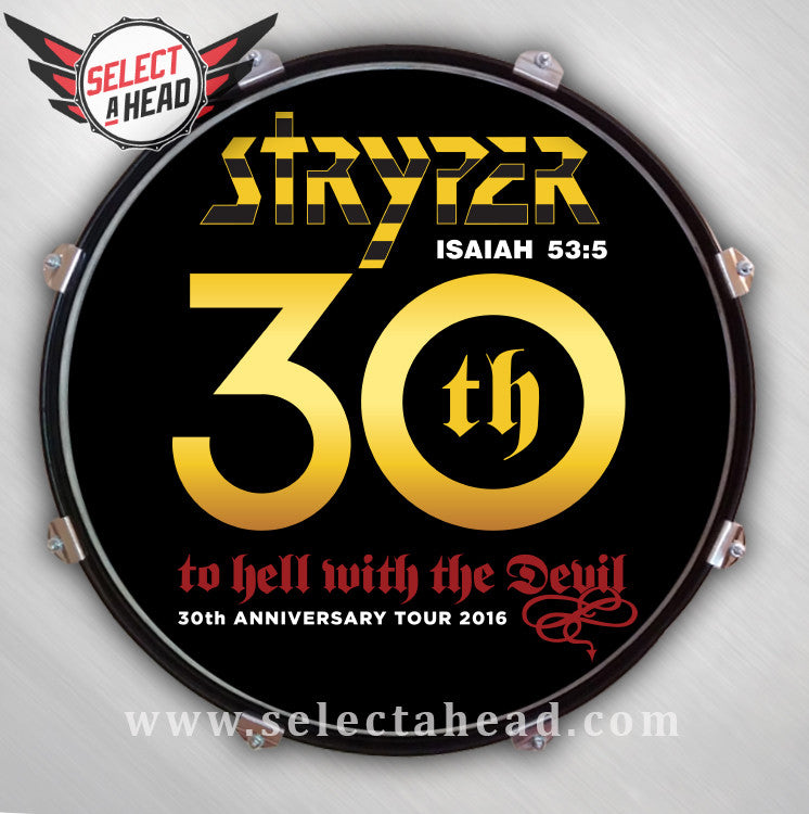 Signed Stryper To Hell With The Devil 30th Anniversary Select A Head