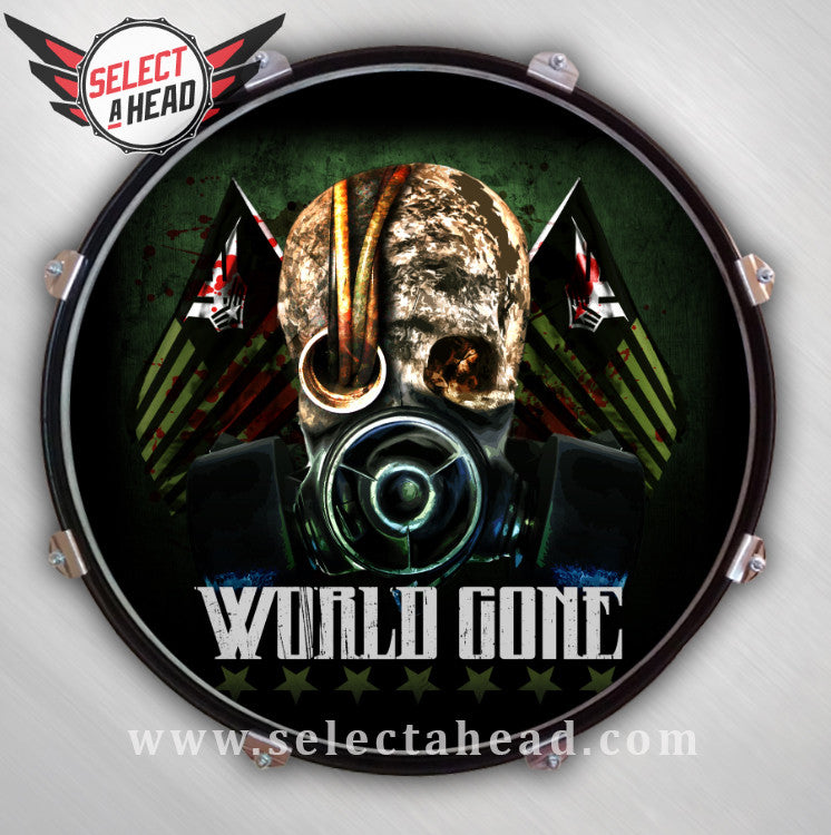 World Gone - Select a Head Drum Display