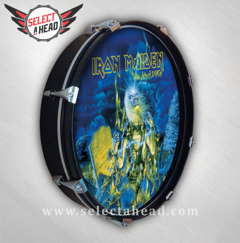 Iron Maiden Live After Death - Select a Head Drum Display