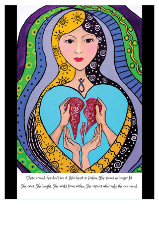 "Art Print ""Broken Heart"""