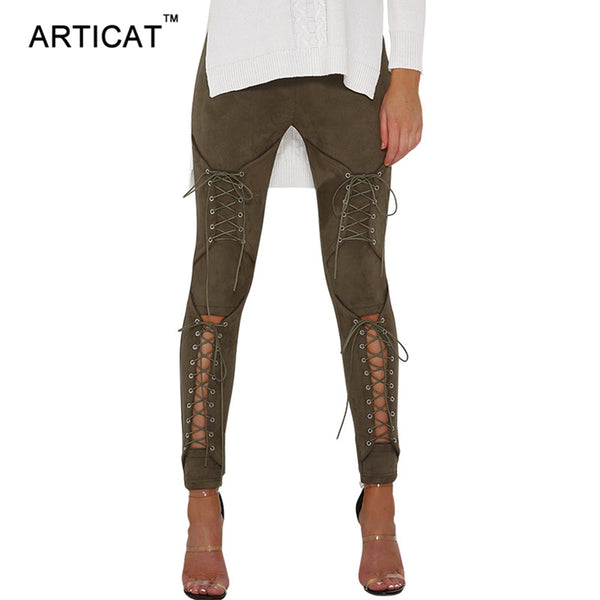 The Autumn Lace Up Legging