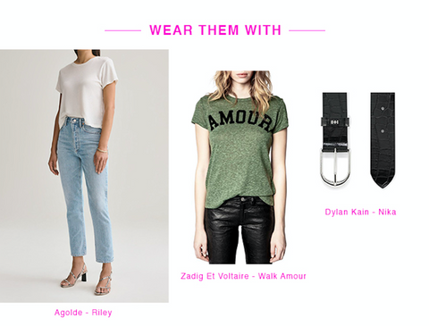 style your sneakers for an everyday look in agolde, zadig et voltaire and dylan kain